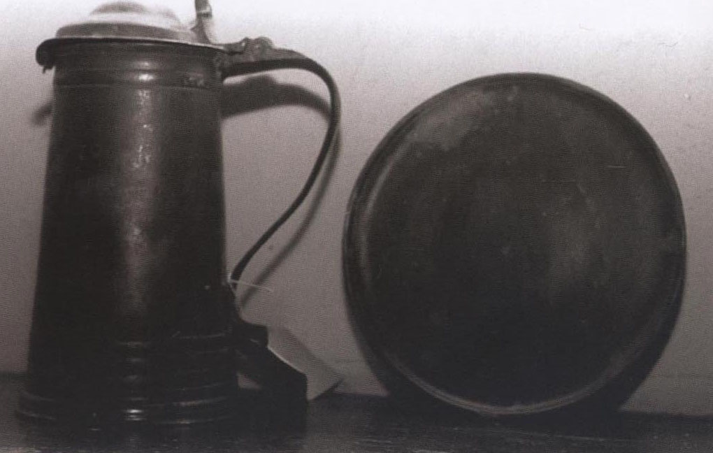 The 1721 Pewter Tankard and Platter